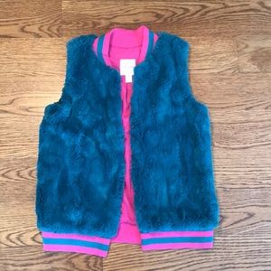 NWOT girls faux vest